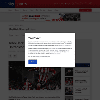 John Fleck signs new Sheffield United contract - Football News - Sky Sports
