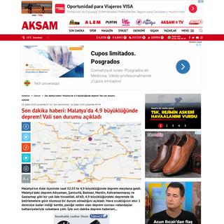 İşte son dakika deprem haberleri- Malatya'da 4.9 büyüklüğünde deprem! Elazığ'da da hissedildi