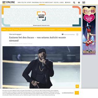 Oscars 2020- Eminem hat Auftritt als Überraschungsgast – -Lose Yourself-