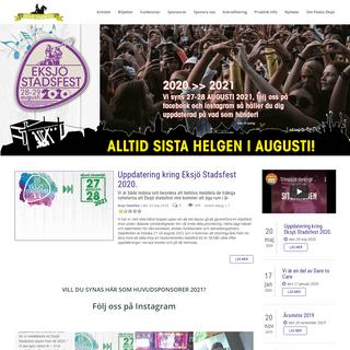 Eksjö Stadsfest - alltid den sista helgen i augusti