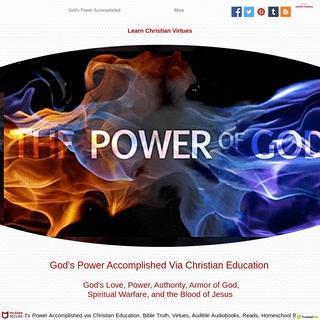 God's Power Accomplished Via Christian Education - mobileshalom