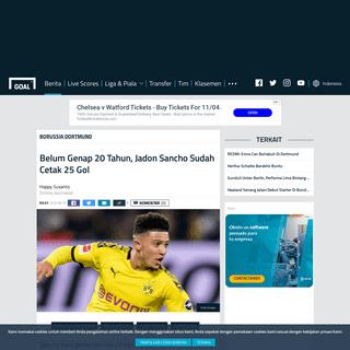 Berita Borussia Dortmund - Belum Genap 20 Tahun, Jadon Sancho Sudah Cetak 25 Gol - Goal.com