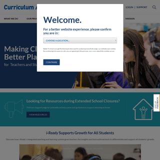 Welcome - Curriculum Associates