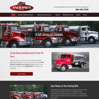 Andersen Oil Co. - Heating Oil Deliveries - Ledyard, CT