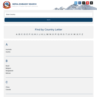 Nepal Embassy Search – Websites of Nepali Diplomatic Missions