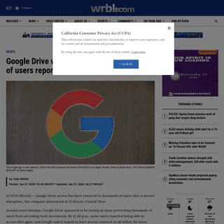 Google Drive working again after thousands of users report it being down - WRBL