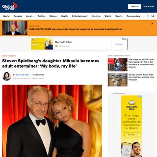 ArchiveBay.com - globalnews.ca/news/6573230/mikaela-spielberg-sex-worker/ - (1) Steven Spielberg's daughter Mikaela becomes adult entertainer- 'My body, my life' - National - Globalnews.ca