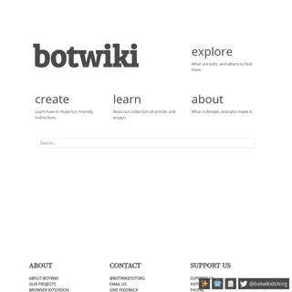 Welcome to Botwiki - Botwiki