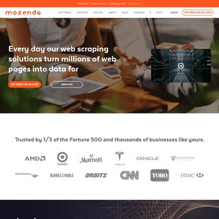 Mozenda - Scalable Web Data Extration Software & Services