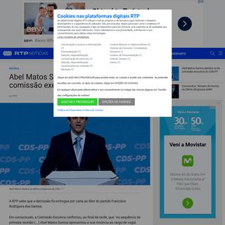 Abel Matos Santos demitiu-se da comissão executiva do CDS-PP