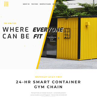 The Gym Pod - SEA's First 24-hr Smart Container Gym Chain