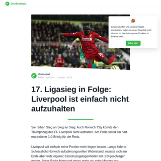 ArchiveBay.com - de.onefootball.com/%F0%9F%9A%A8-17-ligasieg-in-folge-liverpool-ist-einfach-nicht-aufzuhalten/ - 17. Ligasieg in Folge- Liverpool ist einfach nicht aufzuhalten