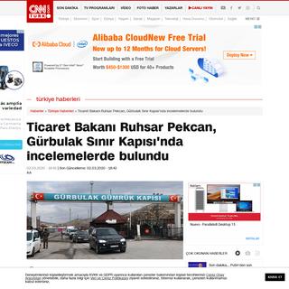 Ticaret Bakanı Ruhsar Pekcan, Gürbulak Sınır Kapısı'nda incelemelerde bulundu - Son Dakika Haberleri İnternet