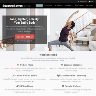 Suzanne Bowen Fitness - Online Workouts & Workout Videos - Try it Free