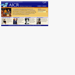 AICR - cancer symptoms information treatment charity charitable donation
