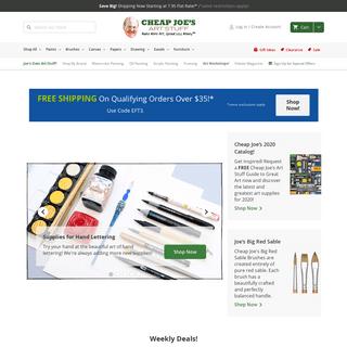 Painting, Drawing & Art Supplies - Cheap Joe's Art Stuff
