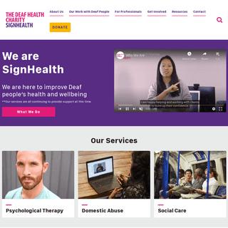 The Deaf Health Charity - SignHealth