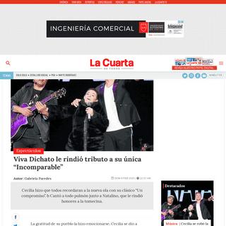 """Viva Dichato le rindió tributo a Cecilia, su única """"Incomparable"""""""