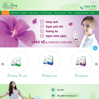 Dạ Hương - Dung dịch vệ sinh phụ nữ số 1 Việt Nam