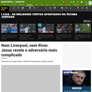 Nem Liverpool, nem River. Jesus revela o adversário mais complicado