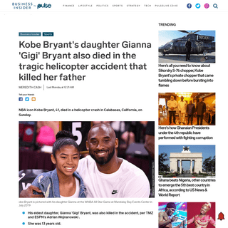 ArchiveBay.com - www.pulselive.co.ke/bi/sports/kobe-bryants-daughter-gianna-gigi-bryant-also-died-in-the-tragic-helicopter-accident/ztyfdyb - Kobe Bryant's daughter Gianna 'Gigi' Bryant also died in the tragic helicopter accident that killed her father - Pulse Live Keny