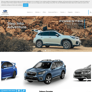 Subaru South Africa - Subaru Cars, Sedans, & SUVs