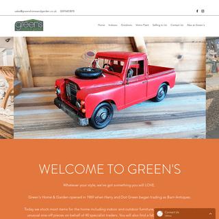 Furniture Homeware Garden and Gifts - Greens Home & Garden