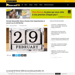 Année bissextile- deux choses très importantes à savoir sur le 29 février