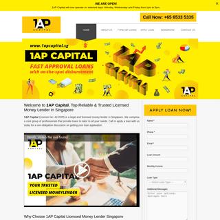 1AP Capital- Top Licensed Money Lender Singapore, Personal Loans