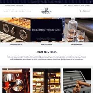 Crown Cigar Humidors & Tobacco Accessories – Crown Humidors