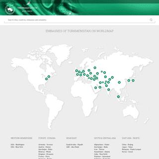 Embassies of Turkmenistan Worldwide