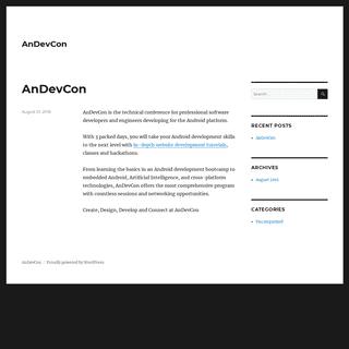 ArchiveBay.com - andevcon.com - AnDevCon