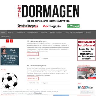 Mein Dormagen – meinDORMAGEN ist der gemeinschaftliche Internetauftritt des Rheinischer Anzeiger und des Schaufenster.