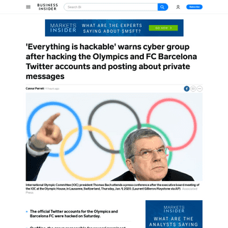 Olympics, FC Barcelona Twitter accounts hacked by Our Mine - Business Insider