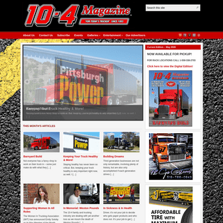 10-4 Magazine - For Today's Trucker – Since 1993