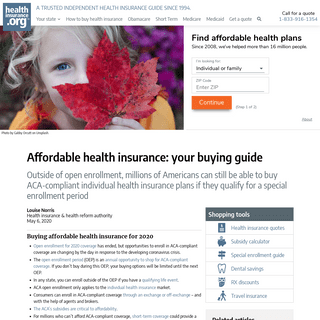 Affordable health insurance- your buying guide - healthinsurance.org