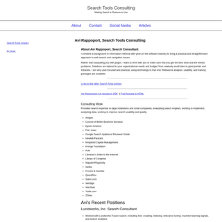 Search Tools Consulting – Making Search a Pleasure to Use