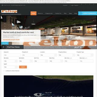 Rent, Sell & Buy Property Online Kenya Feltop Properties