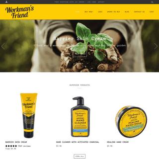 Workman's Friend Superior Barrier Skin Cream for Hardworking Hands