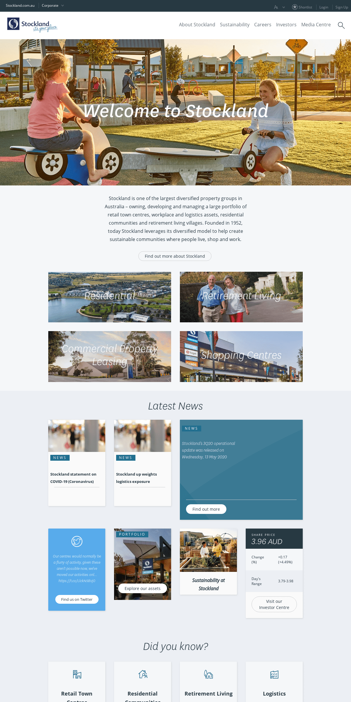 ArchiveBay.com - stockland.com.au - Stockland - Residential, Retail, Retirement, Leasing