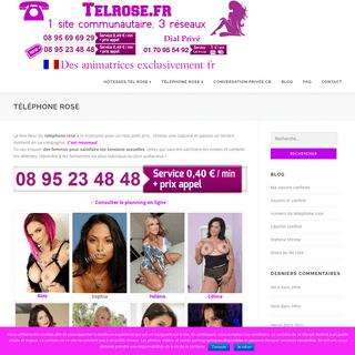 Tel rose sans attente avec ou sans carte bleue - Femmes au telephone rose ou sur le site