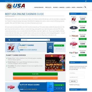USA Online Casinos- Best Online Casino Sites & Top Casino Bonuses of 2020