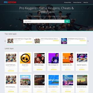 Pro Keygens - Game Keygens, Cheats & Downloads
