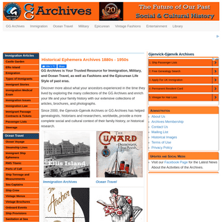 Historical Ephemera Collections 1880s - 1950s - GG Archives