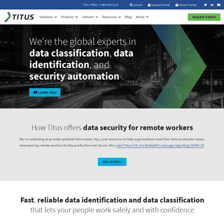 Data Classification, Data Identification, & Data Protection Solutions - Titus