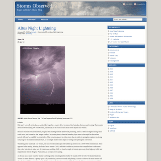 Storms Observed