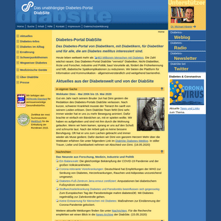 Das unabhängige Diabetes-Portal DiabSite informiert