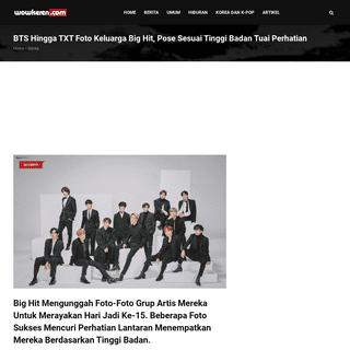 BTS Hingga TXT Foto Keluarga Big Hit, Pose Sesuai Tinggi Badan Tuai Perhatian