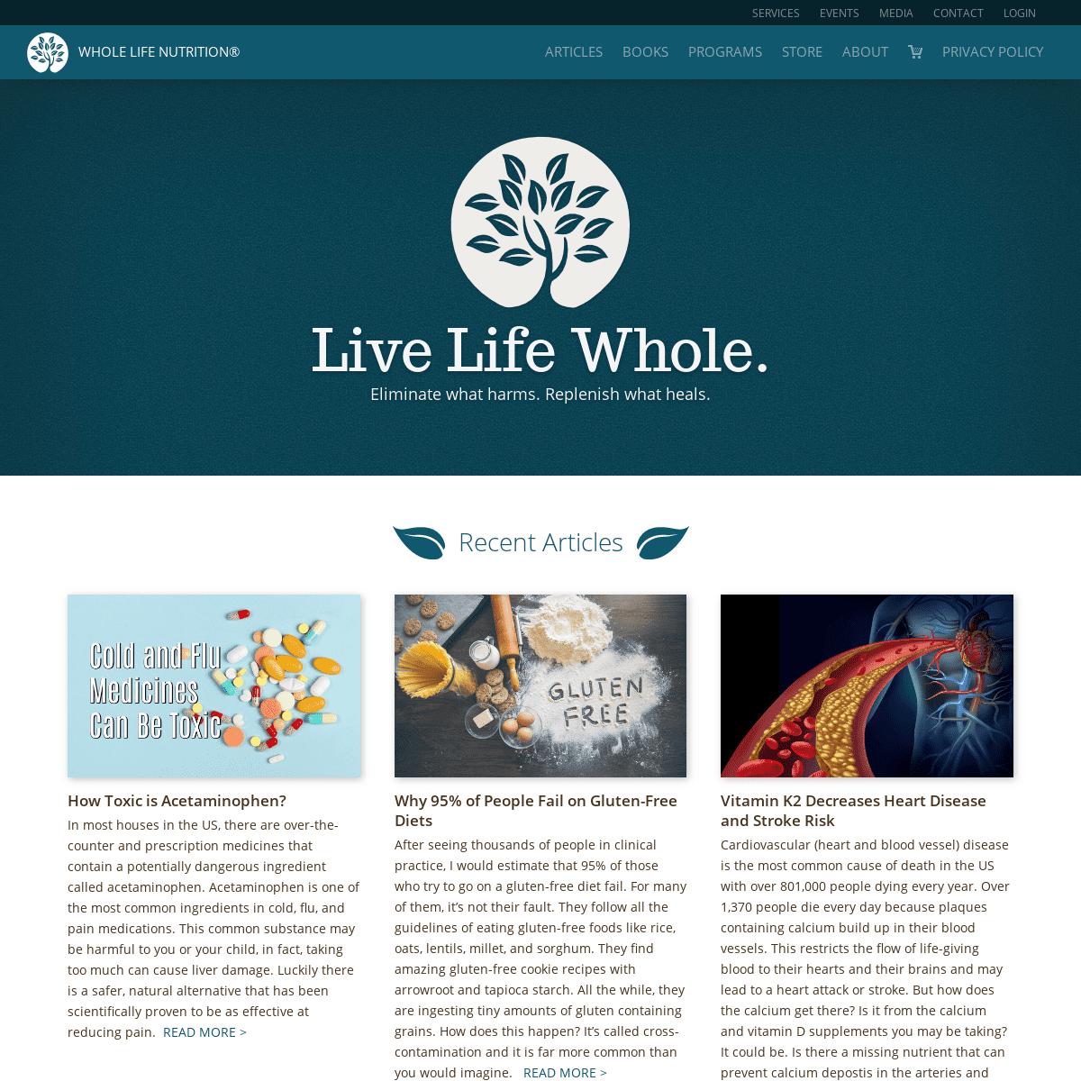 Whole Life Nutrition® - Heal, balance, live.