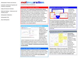 Molinspiration Cheminformatics